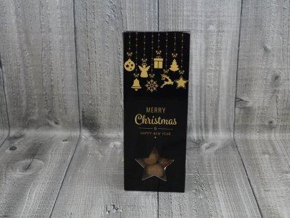 Mandle v čokoládě vánoční černozlaté