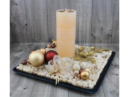 Svícen vánoční-zlatohnědý