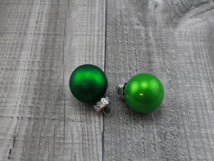 Skleněné kouličky závěsné-zelená