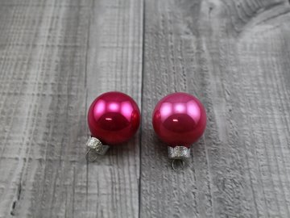 Skleněné kouličky závěsné-růžová tmavá