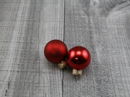 Skleněné kouličky závěsné-červená