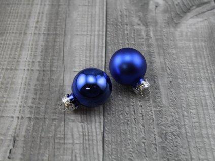 Skleněné kouličky závěsné-modrá