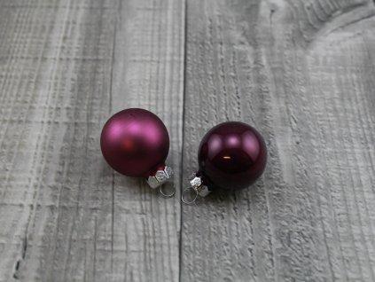 Skleněné kouličky závěsné-fialová tmavá