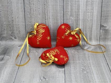 Srdíčko malé vánoční-červené