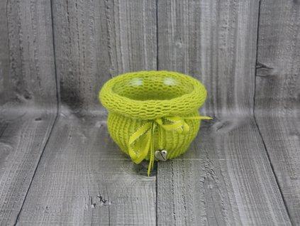 Svícen baňka opletený-zelený světlý