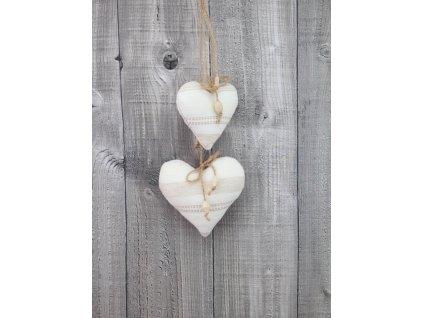 Závěsné srdce-smetanové