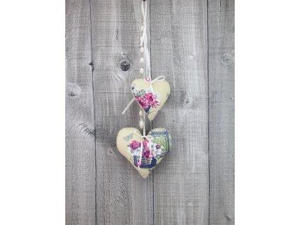 Závěsné srdce-květinové