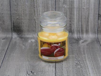 Svíčka ve sklenici argan oil