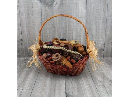 Košík oválný malý+raffie