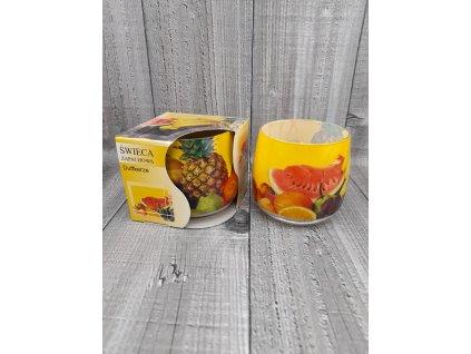 Svíčka ve skle-fruits
