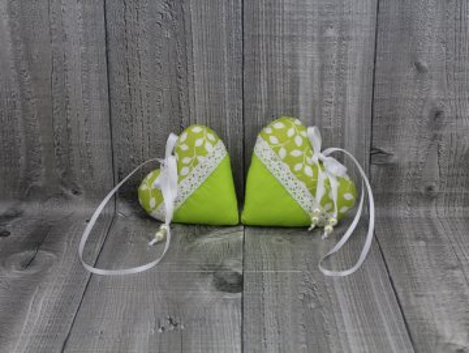 Srdce 2 kusy-zelené