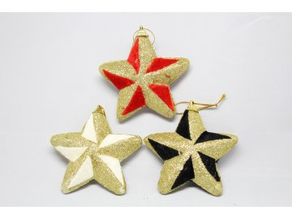 Hvězda sametová s glitry