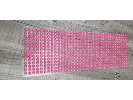 Perličky nalepovací 6mm-růžová