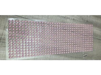 Perličky nalepovací 6mm-starorůžová
