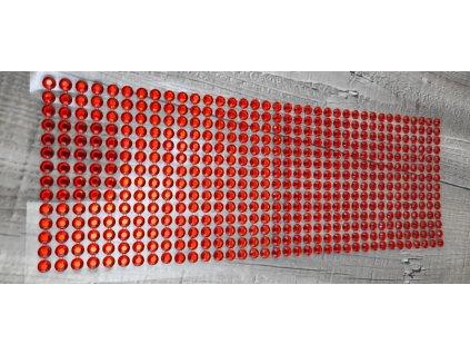 Kamínky nalepovací 6mm-červená