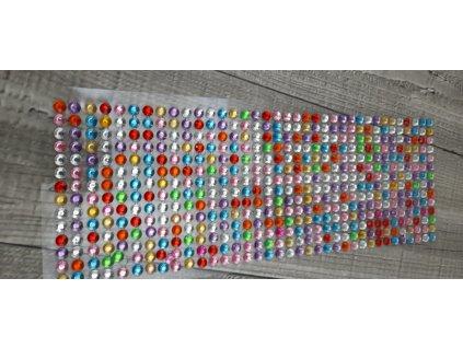 Kamínky nalepovací 6mm-miv barev