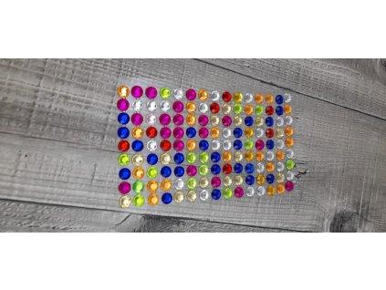 Kamínky nalepovací 8mm-mix barev