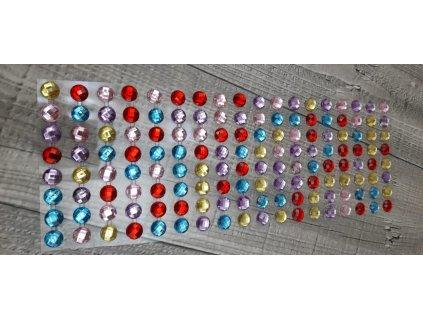 Kamínky nalepovací 10mm-mix barev