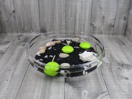 Svíčka plovoucí lakovaná sv. zelená