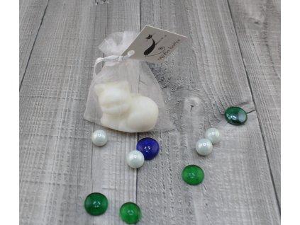Mini mýdlo kočka 3D bílá 30g