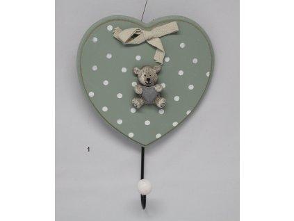 Háček srdce s medvídkem