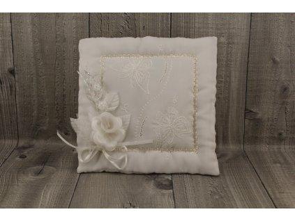 Svatební polštářek bílý