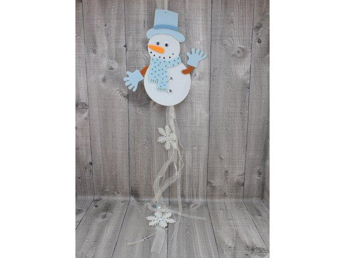 Sněhulák s kloboukem modrý