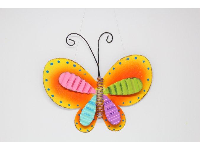 Motýl plechový závěsný