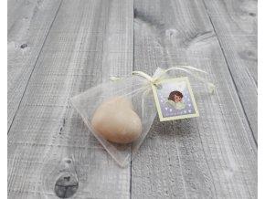 Mini mýdlo srdce 3D smetanové 30g
