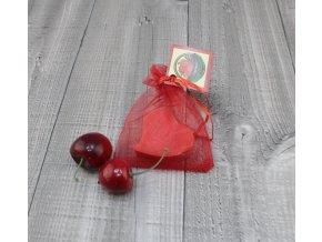 Mini mýdlo srdce ploché červené 20g