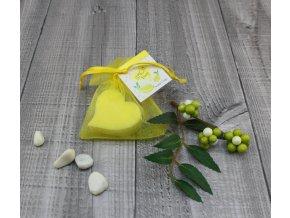 Mini mýdlo srdce ploché žluté