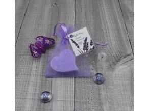 Mini mýdlo srdce ploché levandulové 20g