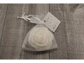 Mini mýdlo růžička bílá 30g