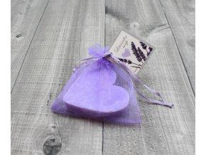 Mýdlo srdce ploché velké levandulové 60g