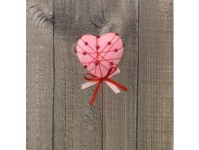 Srdíčko růžové s korálky