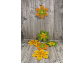 Girlanda květy sisal 20cm oranžová