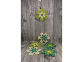 Girlanda květy sisal 15cm zelená