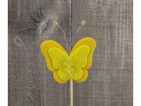 Motýl filc žlutý
