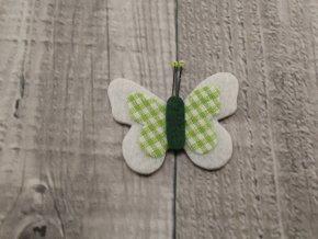 Motýl výsek bílý č6
