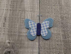 Motýl výsek modrý č8