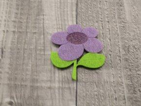Květina filcová fialová