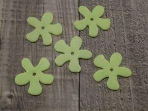 Kytka plast svítivě zelená