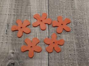 Kytka plast oranžová tmavá