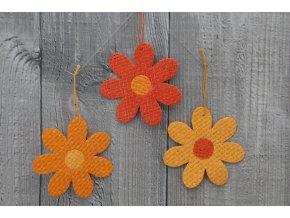 Květ papyrus malý oranžový dvoubarevný