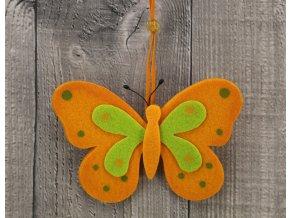 Motýl filcový oranžový