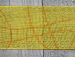 Stuha 40 vlnka/žlutá