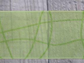 Stuha 40 vlnka/zelená