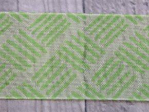 Stuha 40 čárky/zelená