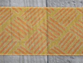 Stuha 40 čárky/oranžová