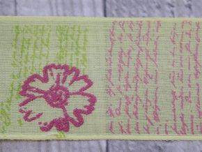 Stuha 40 květinový vzor